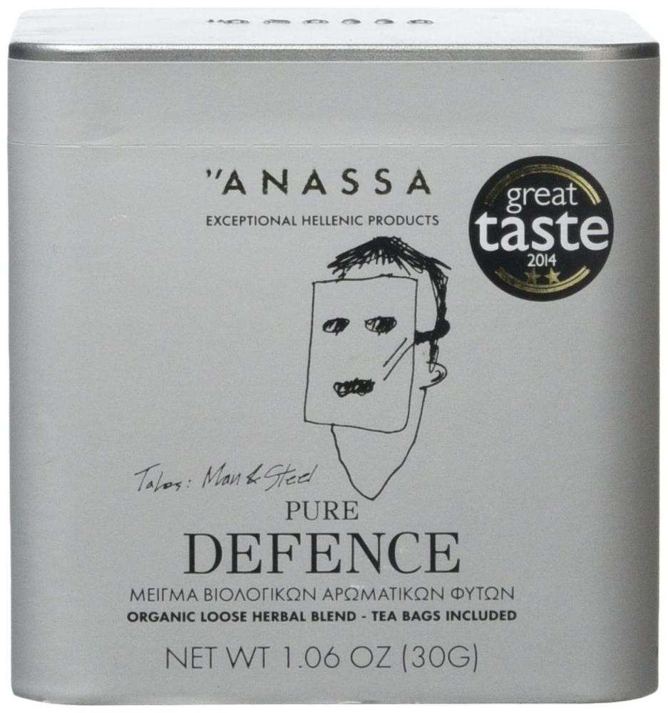 Anassa Organic Pure Defence Loose Herbal Blend Teabags in Tin Box6-Teabags