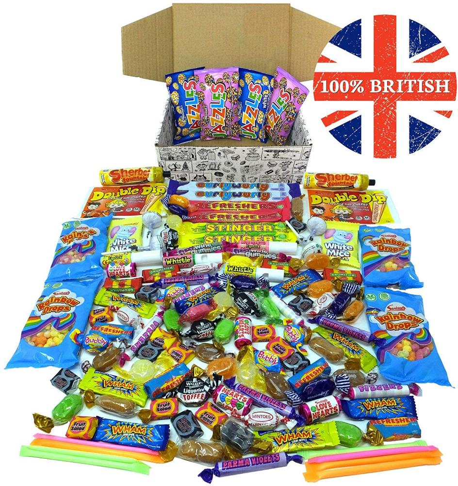 A Quarter Of Supersized Best of British Retro Sweets Gift Hamper