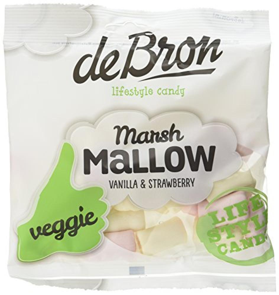 De Bron Vanilla and strawberry Marshmallow for Vegetarians 75g