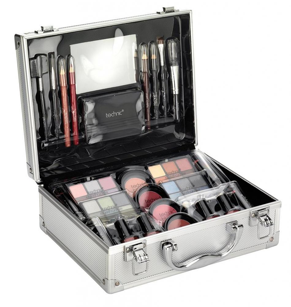 Technic Large Beauty Case with Cosmetics Damaged Box