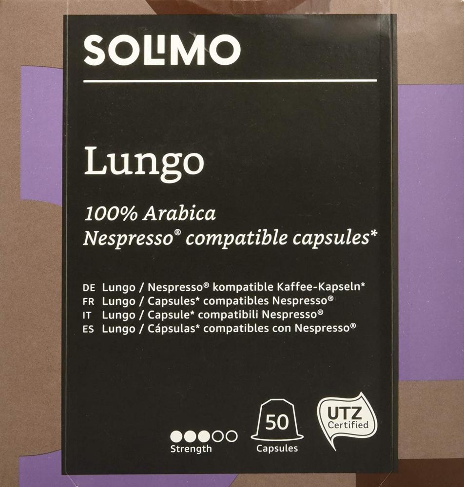 Solimo Nespresso Compatible Capsules 100 Arabica 50 capsules Damaged Box