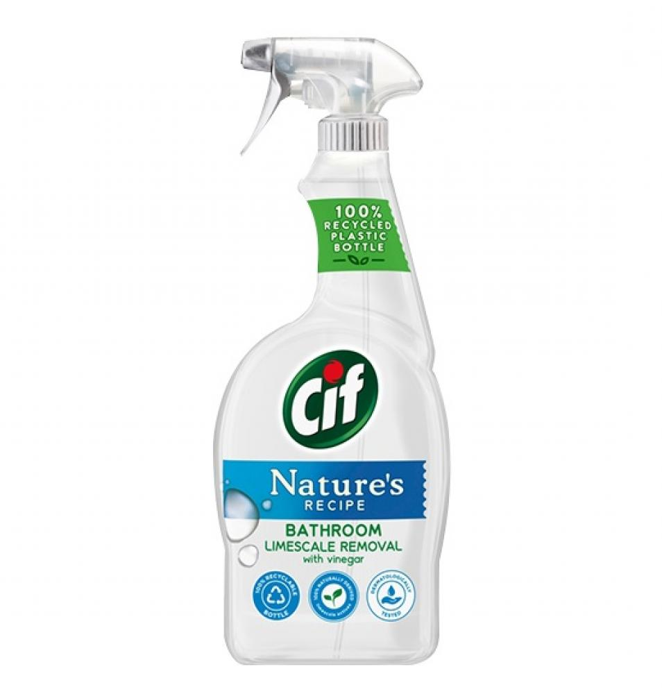 Cif Natures Recipe Bathroom Limescale Removal with Vinegar 750ml