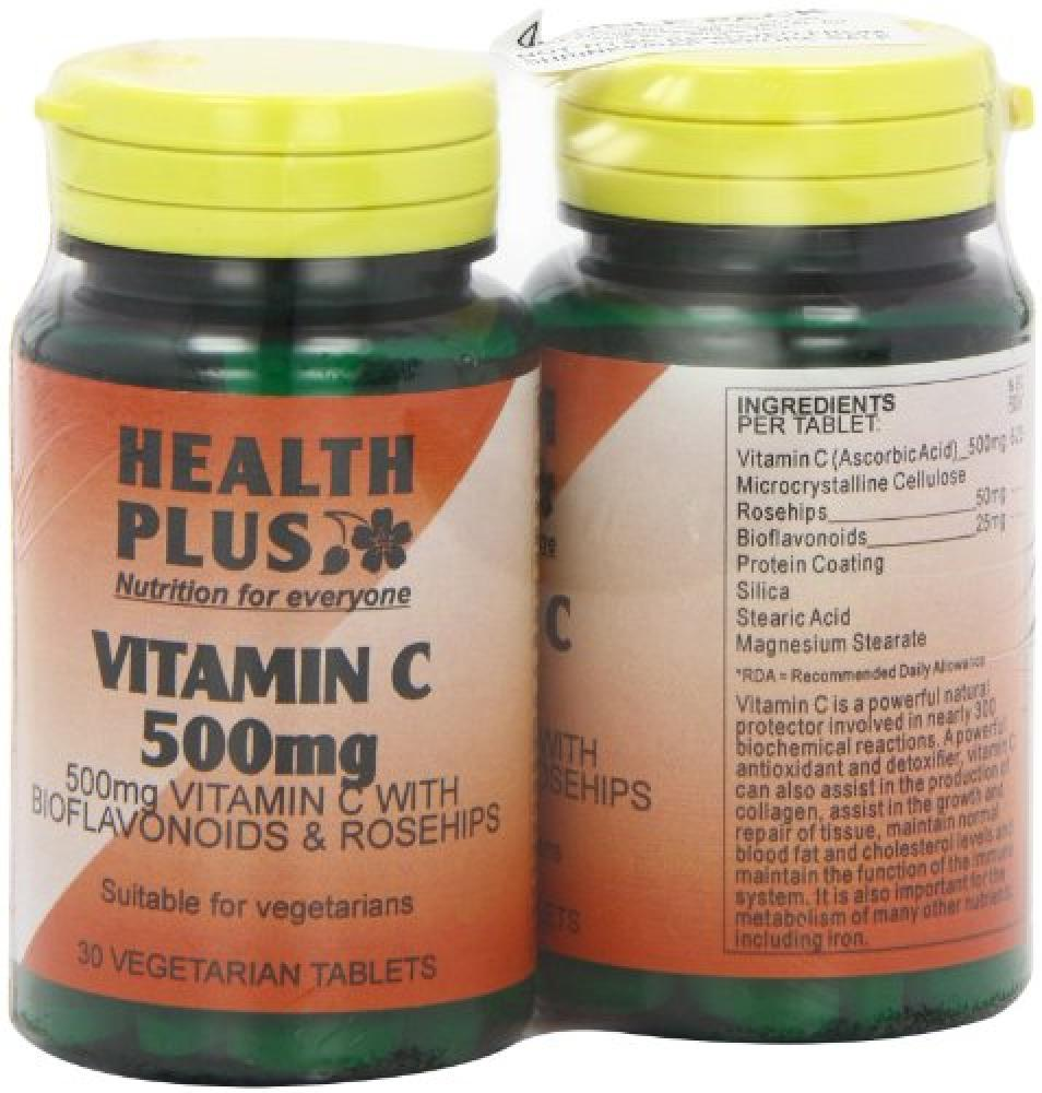 Health Plus 500mg Vitamin C Supplement 30 Tablets