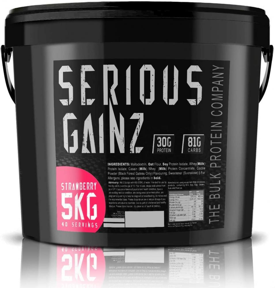 The Bulk Protein Company Serious Gainz Strawberry Protein Powder Strawberry 5 kg