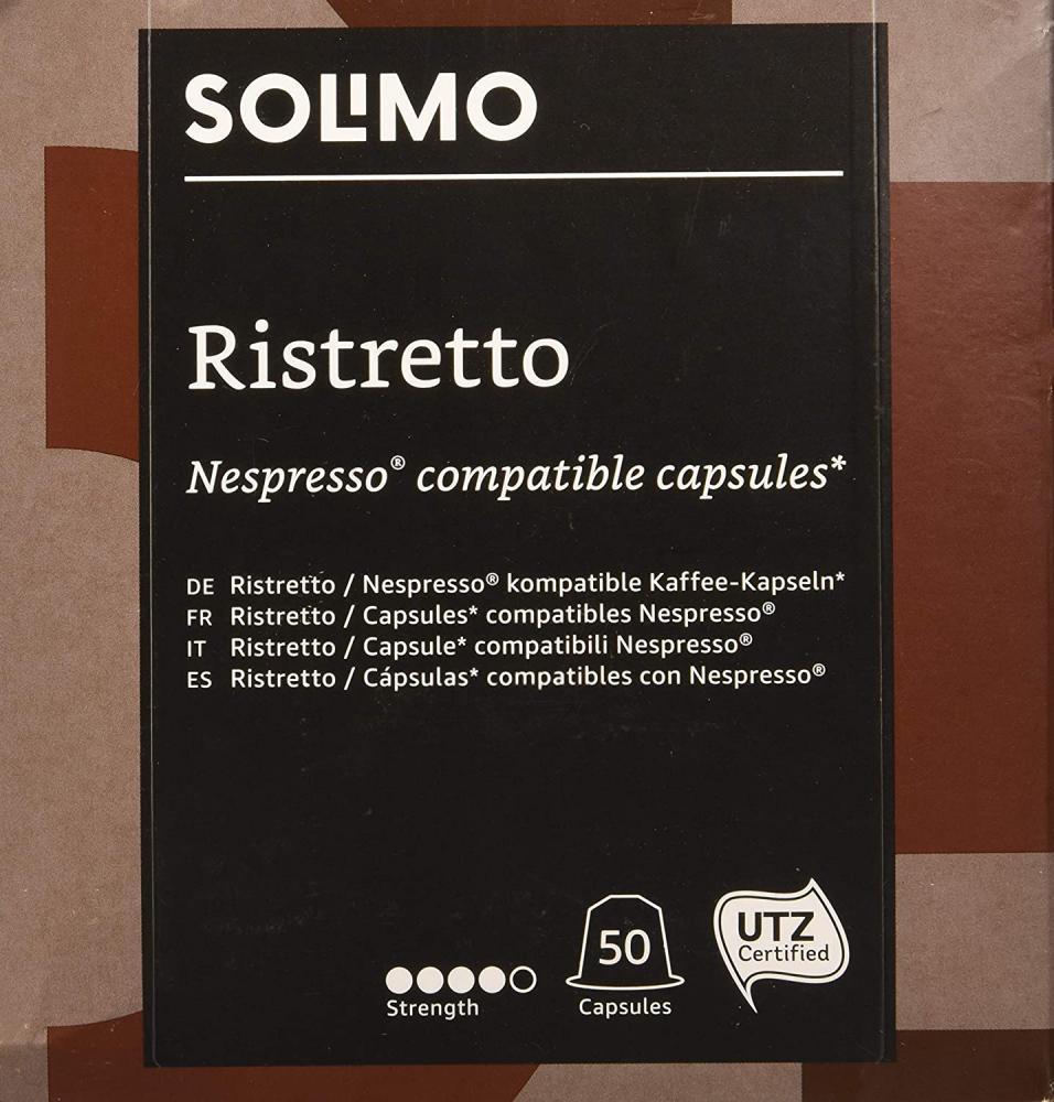 Solimo Ristretto Nespresso Compatible Capsules x 50