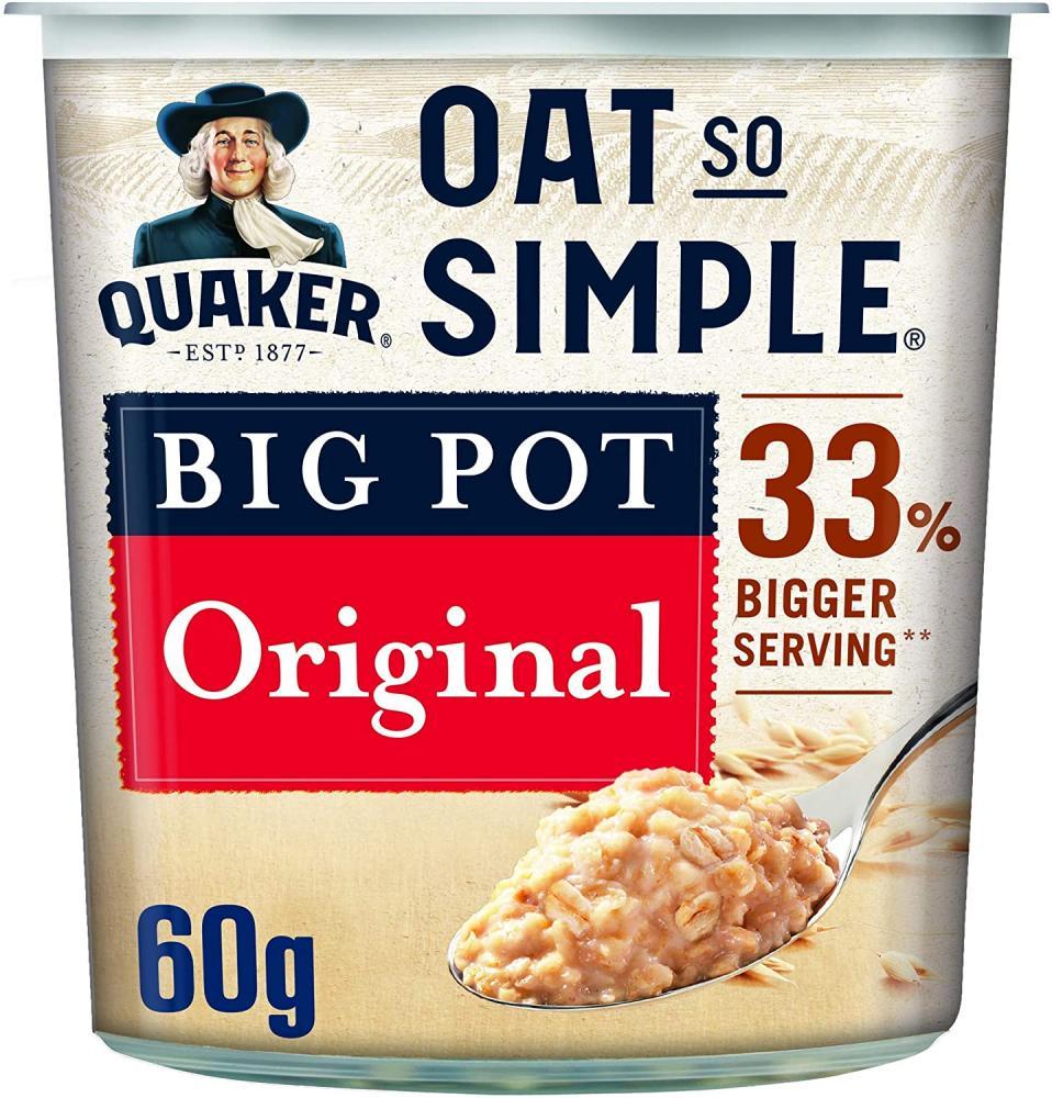 Quaker Oats So Simple Original Porridge Big Pot 60g