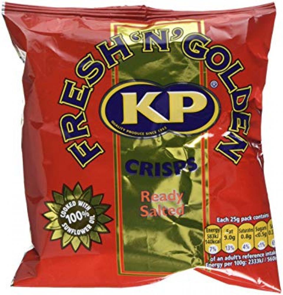 Kp Ready Salted Potato Crisps 25g