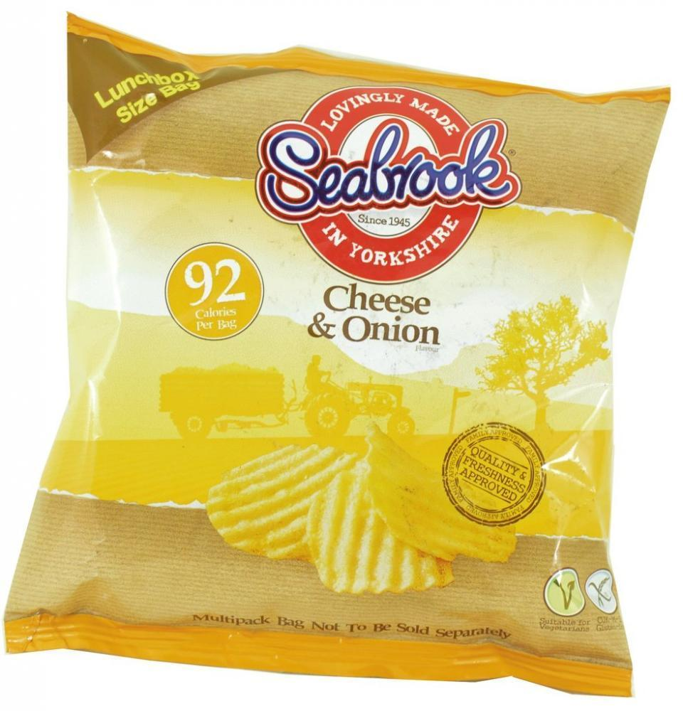 Seabrook Cheese and Onion Flavour Crisps 18g