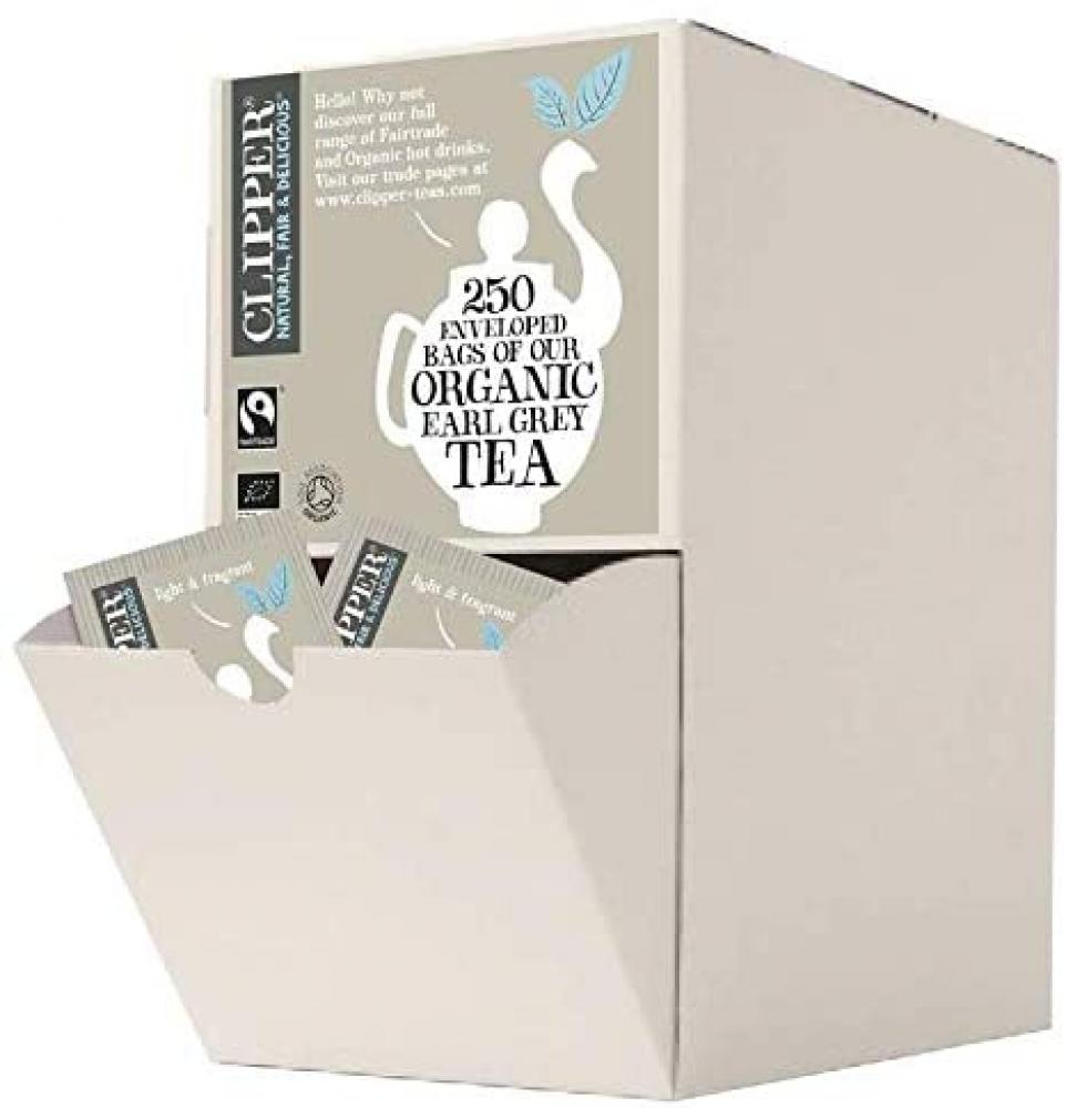 SALE  Clipper 250 Enveloped Bags Of Organic Earl Grey Tea