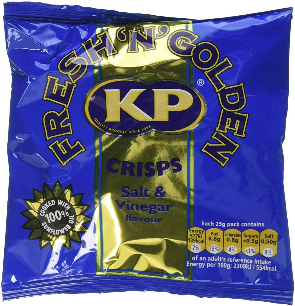 KP Snacks Salt and Vinegar Crisps 25g