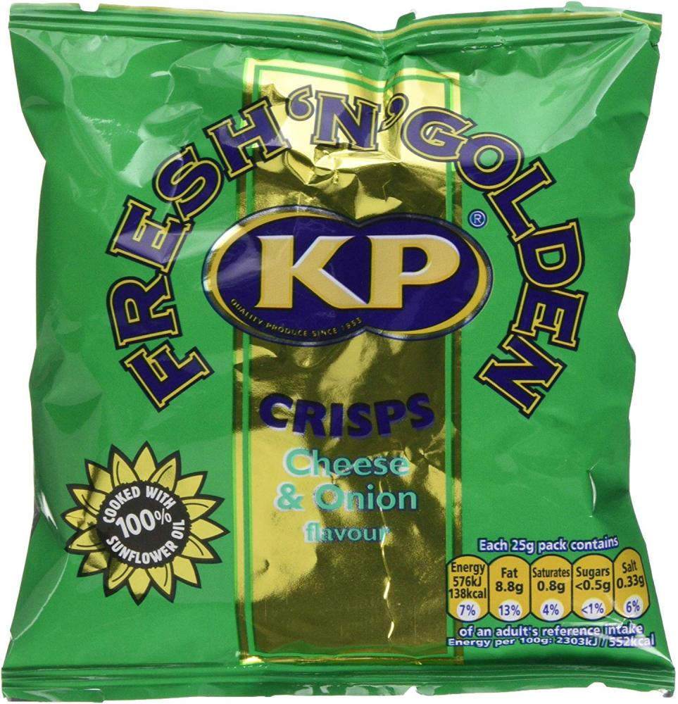 Kp Cheese and Onion Potato Crisps 25g