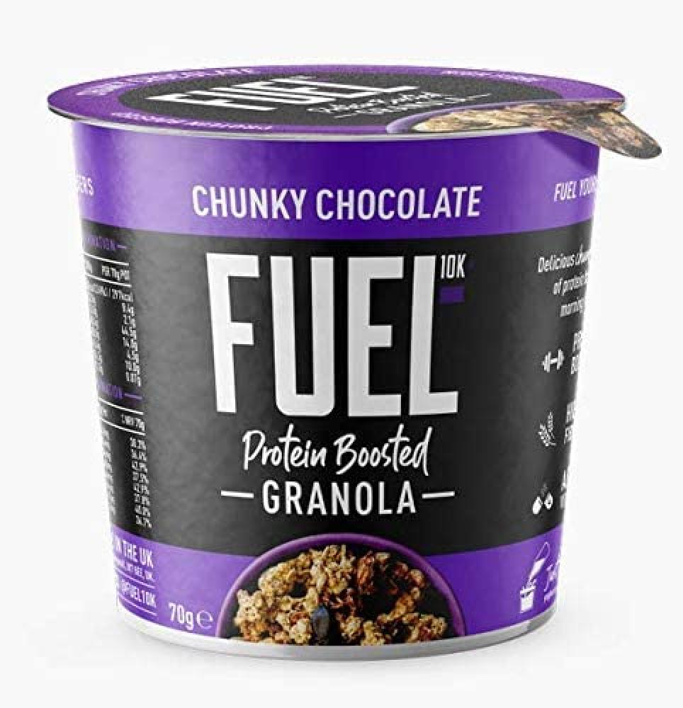 FUEL10K Chunky Chocolate Granola Pot - High Protein 70 g
