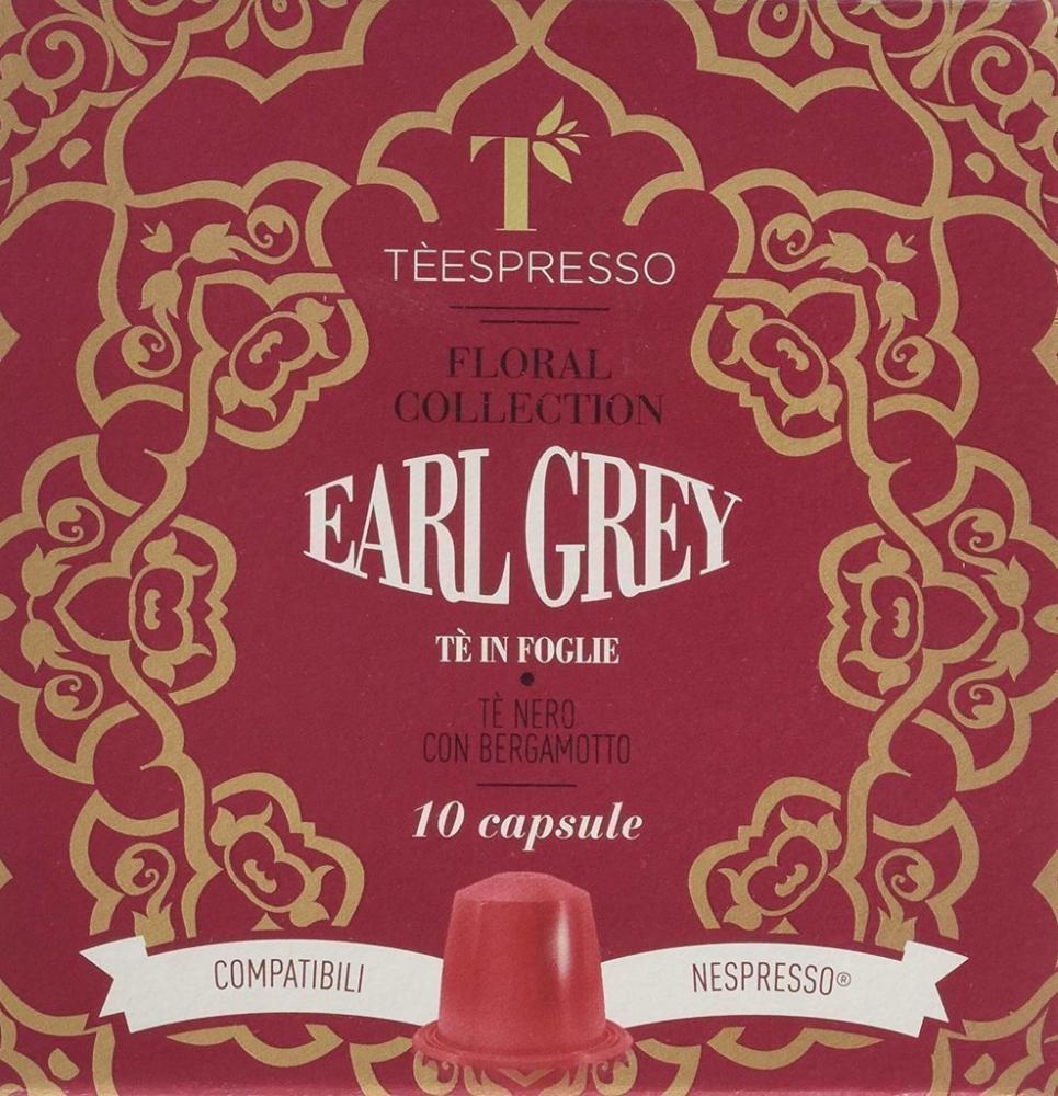 Teespresso Floral Collection Earl Grey Leaf Tea 10 Pods