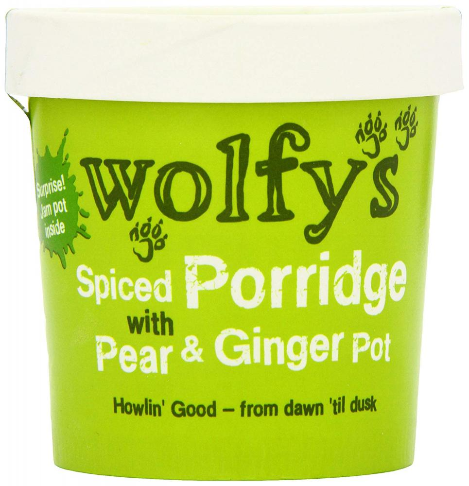 Wolfys Spiced Porridge with Pear and Ginger Pot 102g
