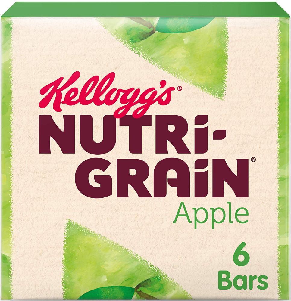 Kelloggs Nutri Grain Fruity Breakfast Bars Apple 6x37g