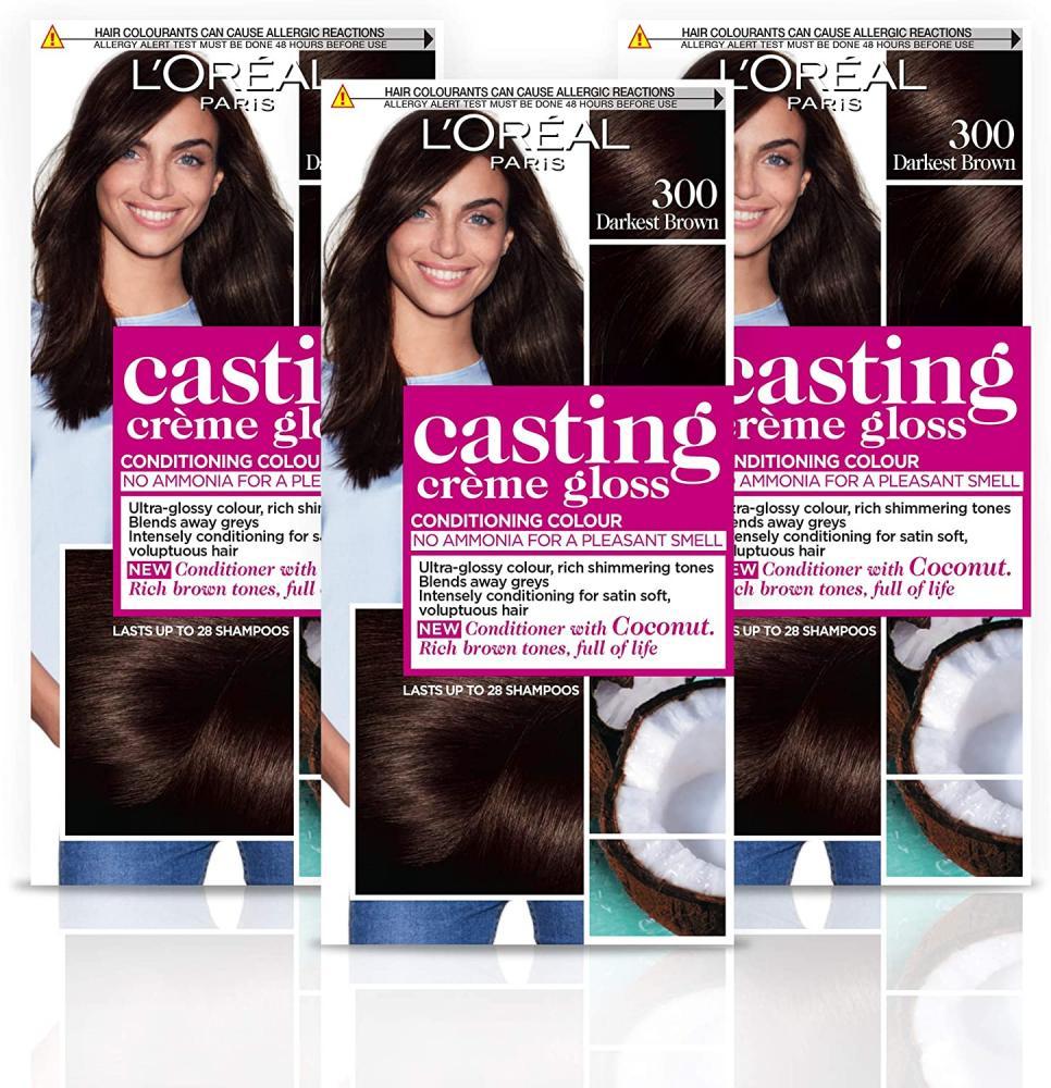 Loreal Paris Casting Creme Gloss Darkest Brown Semi-Permanent Hair Dye