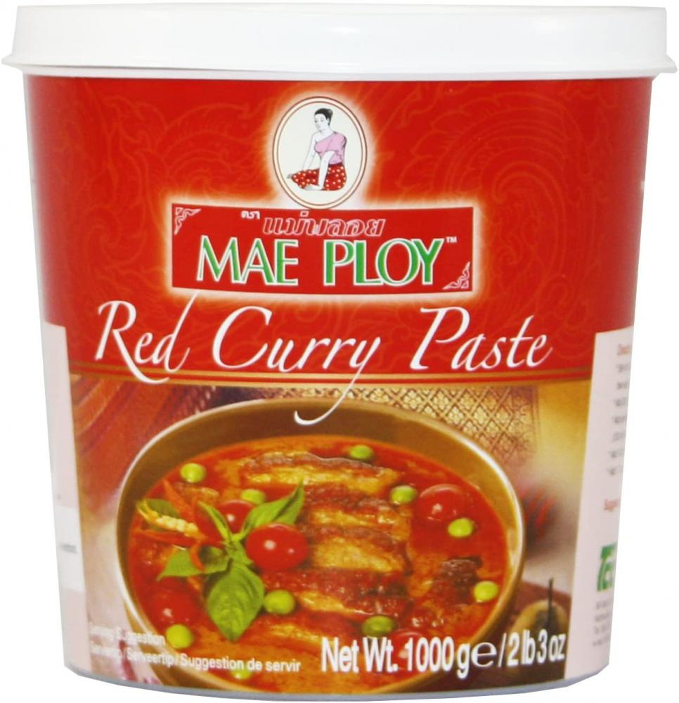 Mae Ploy Red Curry Paste 1kg Damaged