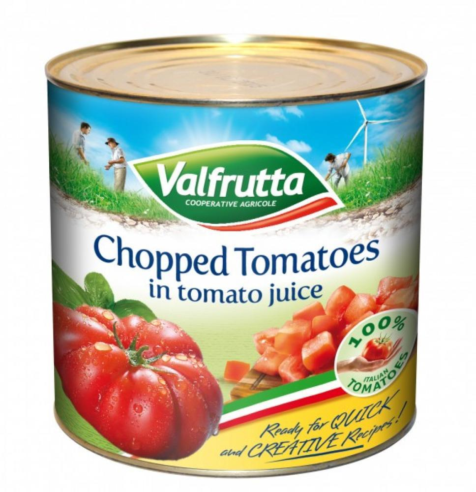 Valfrutta Chopped Tomatoes In Tomato Juice 2.55kg