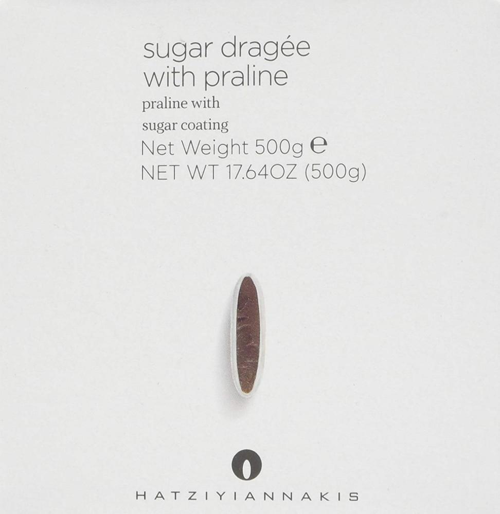 Hatziyiannakis Sugar Dragees with Chocolate Heart Multi-Colors Polished 500g