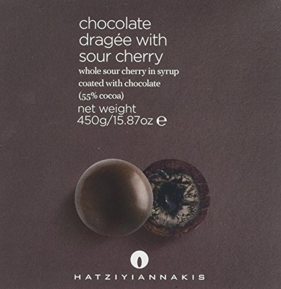 Hatziyiannakis Chocolate Dragee with Sour Cherry 450g