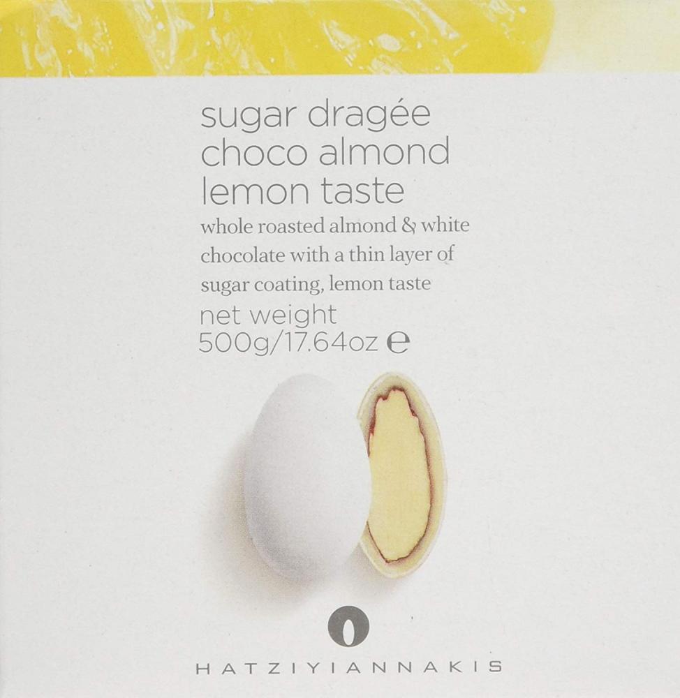 Hatziyiannakis Sugar Dragees with Nut and Chocolate Choco Almond Lemon Taste 500g