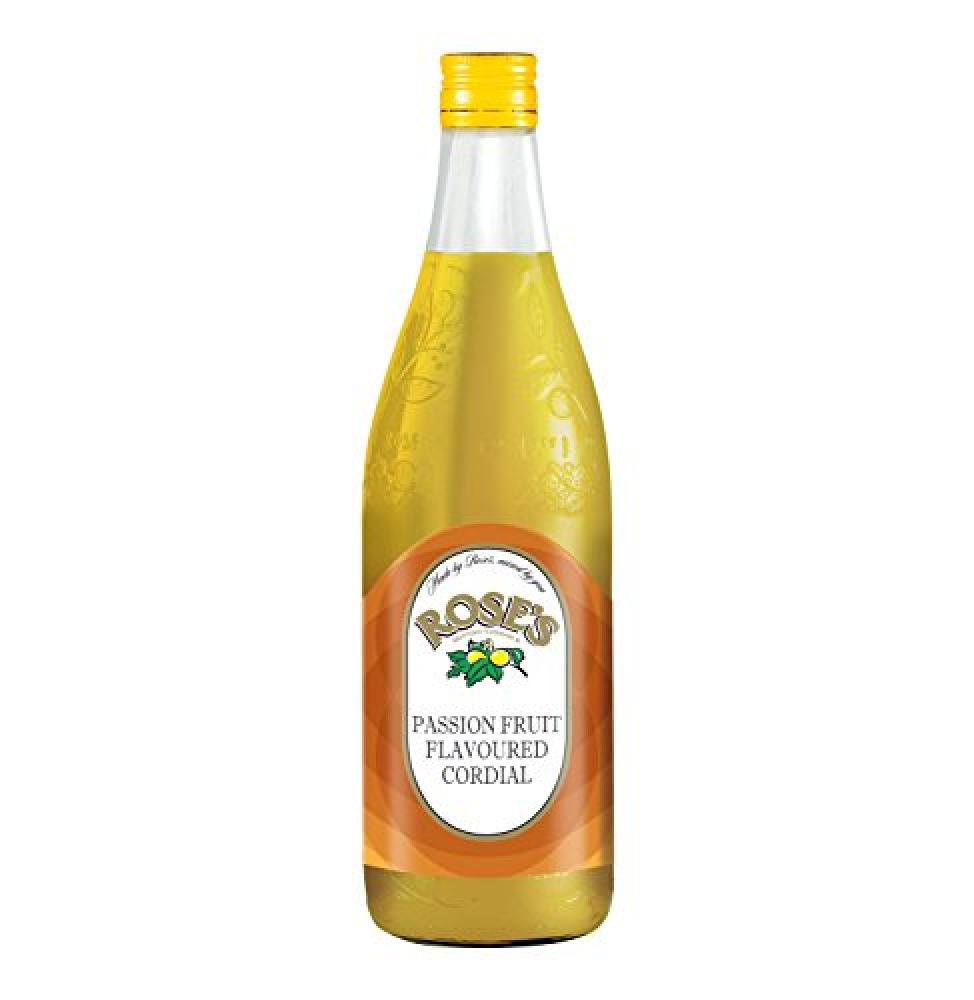 Roses Passion Fruit Cordial 750 ml   Approved Food