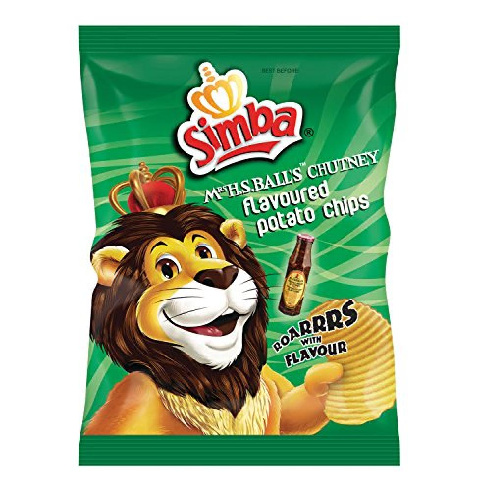 Simba Chutney Flavoured Potato Chips 125g