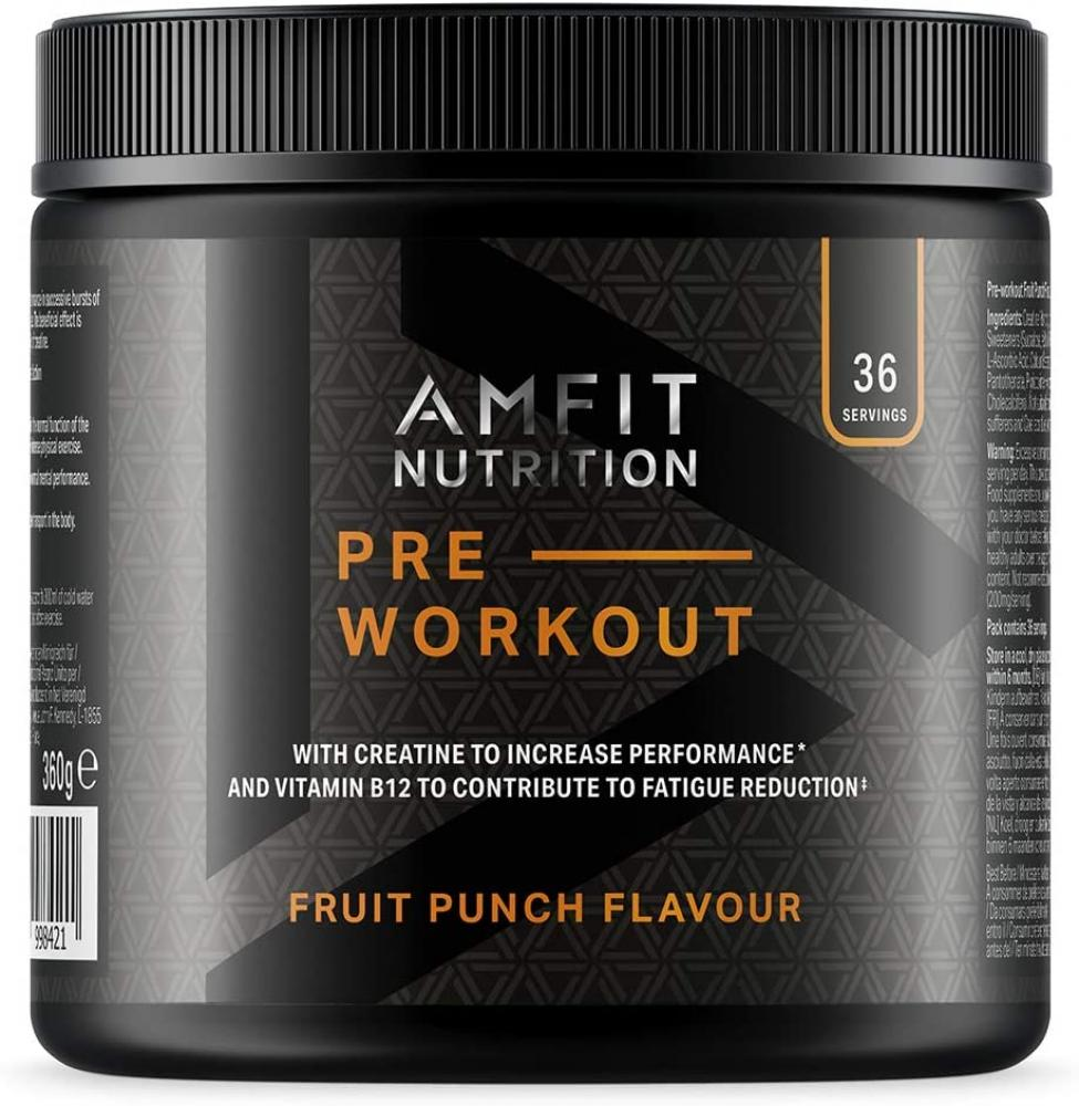 Amfit Nutrition Pre Workout Protein Fruit Punch 360g