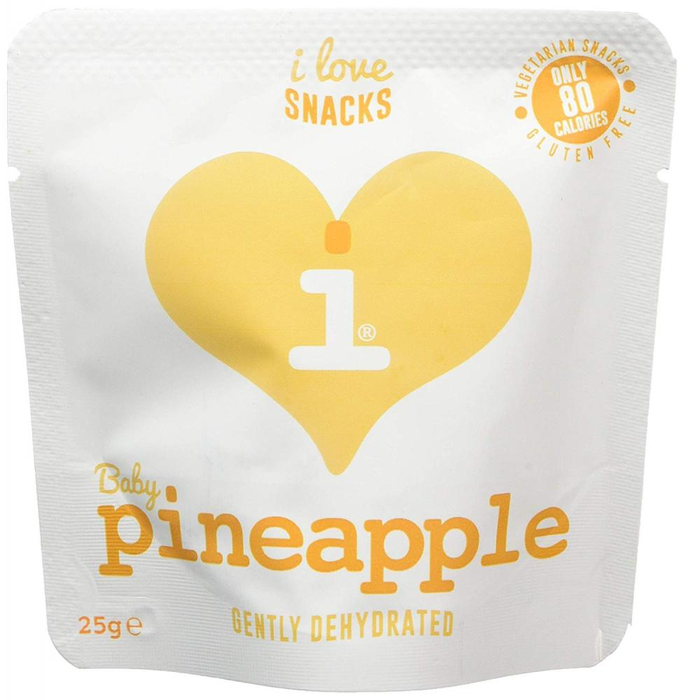 I Love Snakcs Gently Dehydrated Baby Pineapple 25g EXP. 08012019