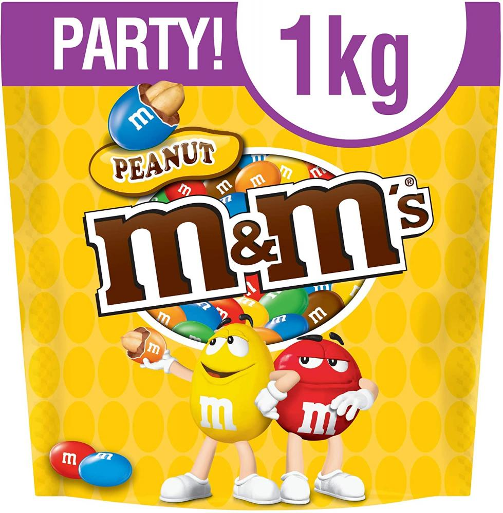 M and Ms Peanut Chocolate Party Bag 1 kg