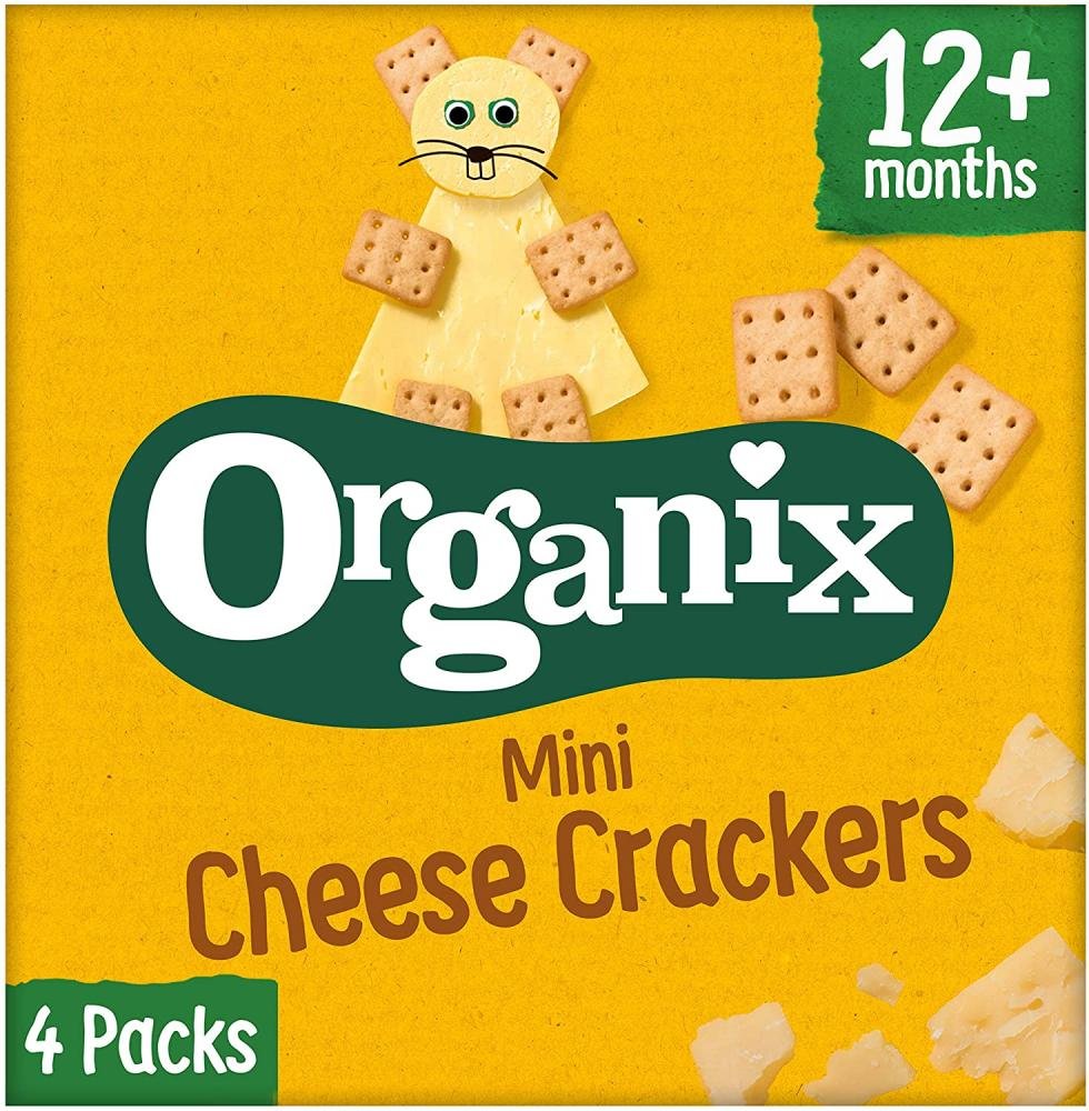 Organix Mini Cheese Crackers 4x20g Damaged Box