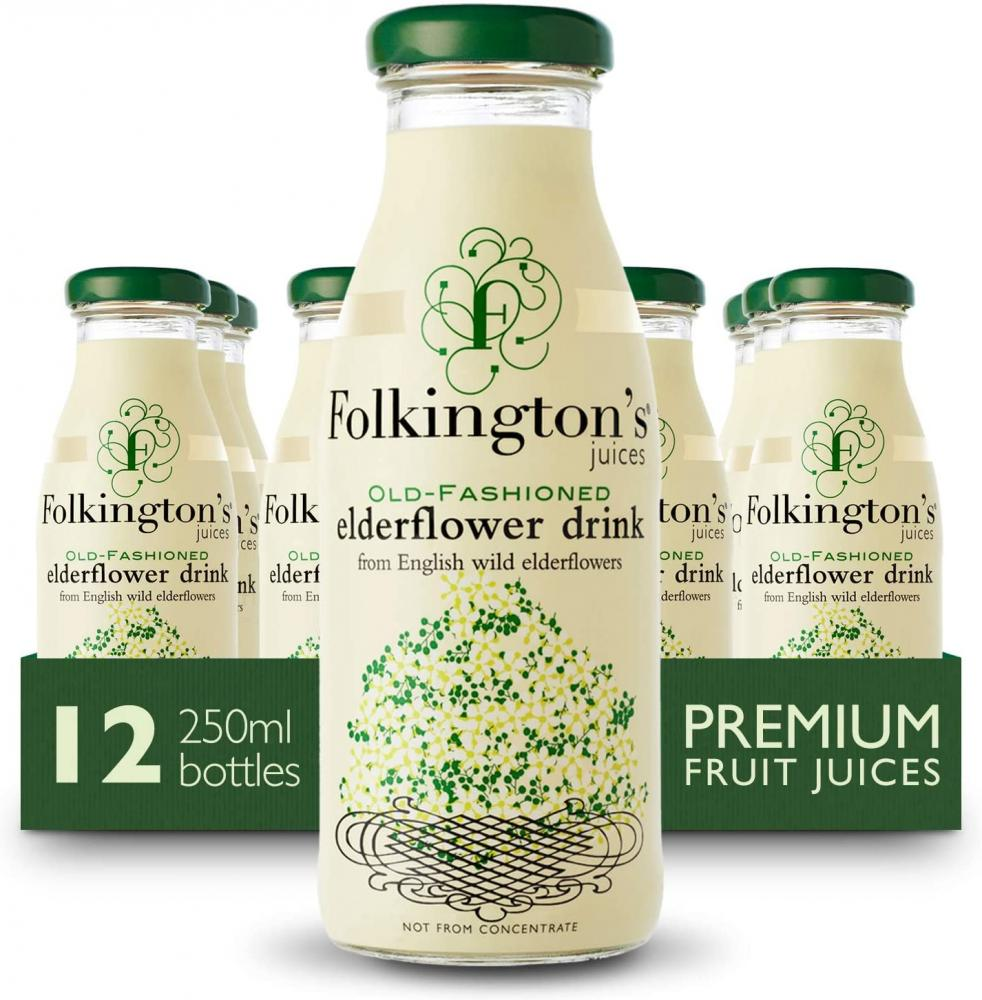 Folkingtons Old Fashioned Elderflower Fruit Juice 250ml