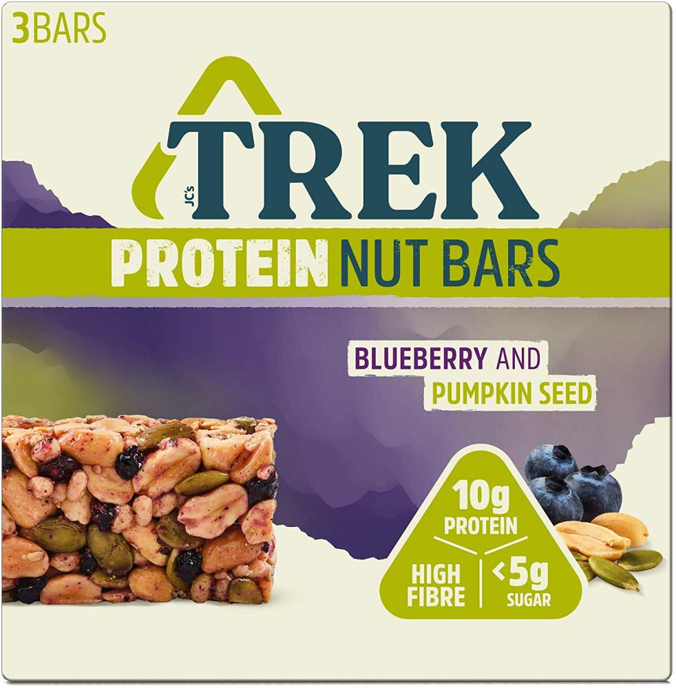 Trek Protein Nut Bar Blueberry And Pumpkin 3 x 40 g