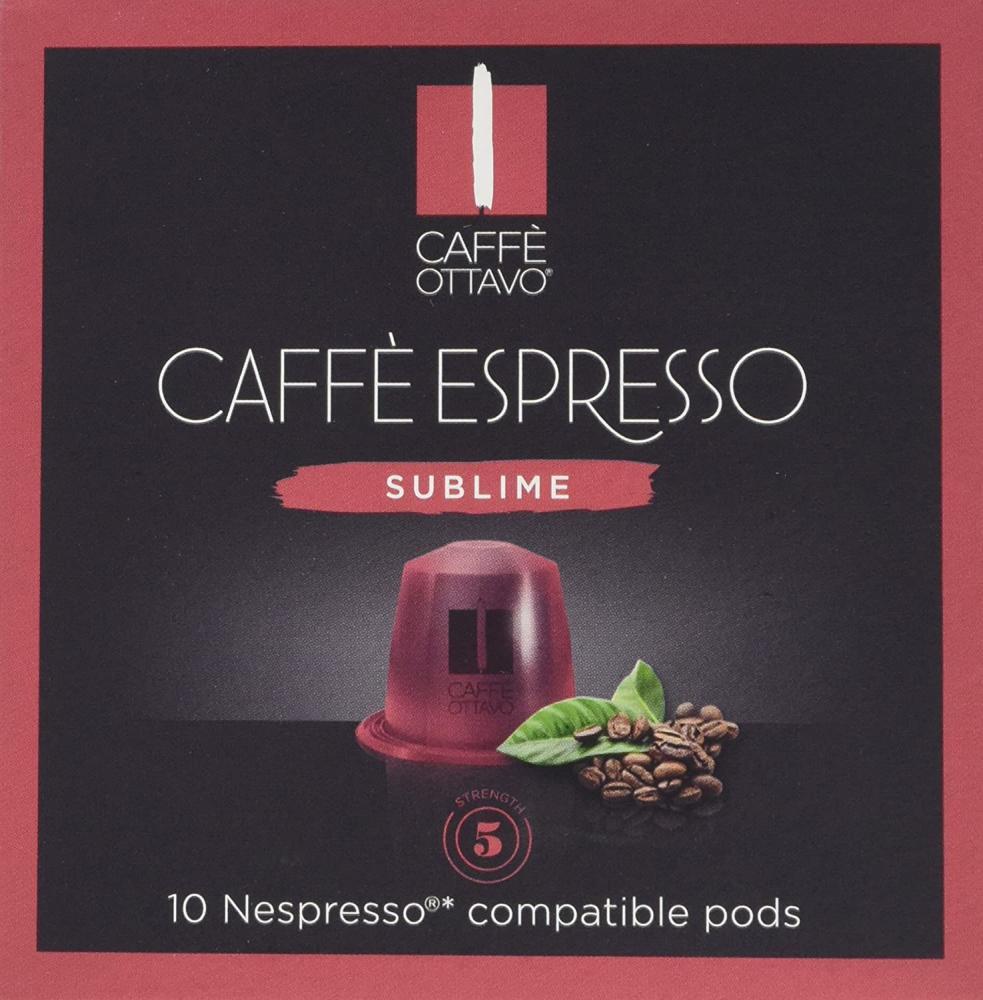 Caffe Ottavo Sublime Espresso Nespresso Compatible Coffee Capsules 10 Capsules