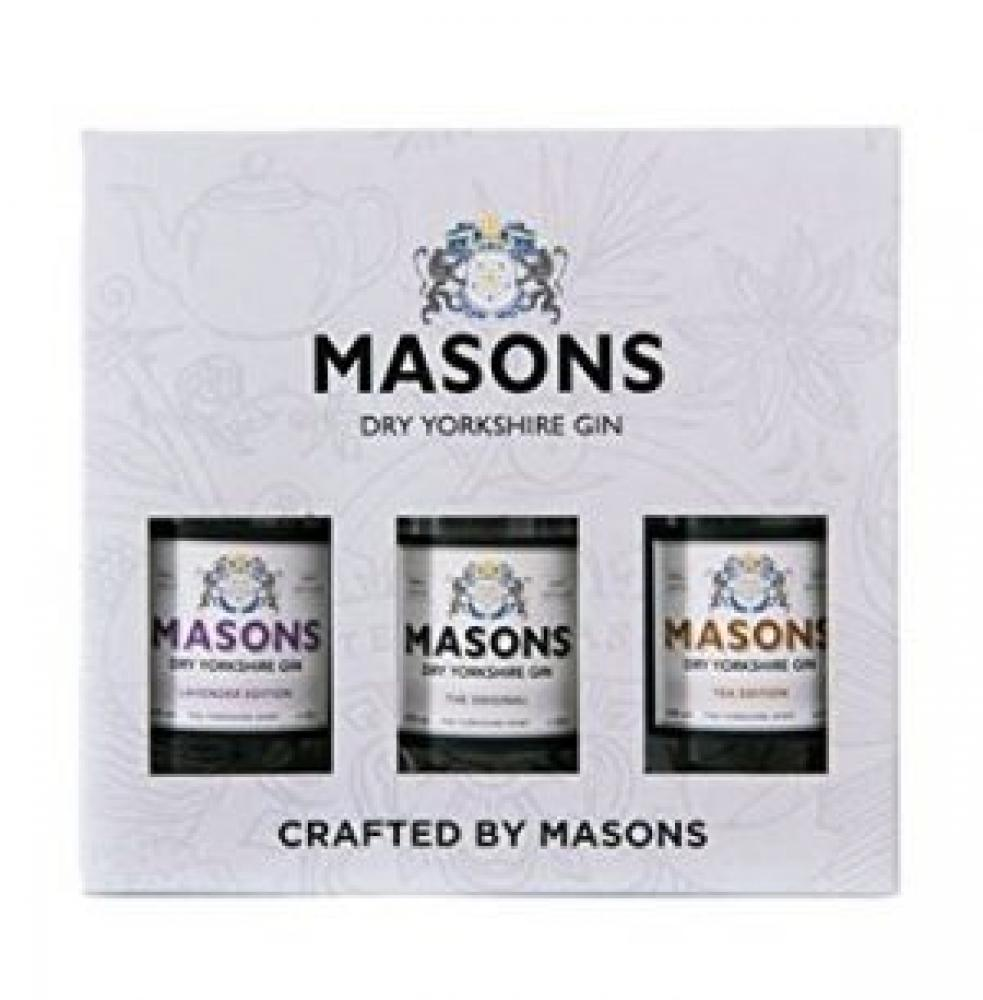 Masons Dry Yorkshire Gin 3x50ml