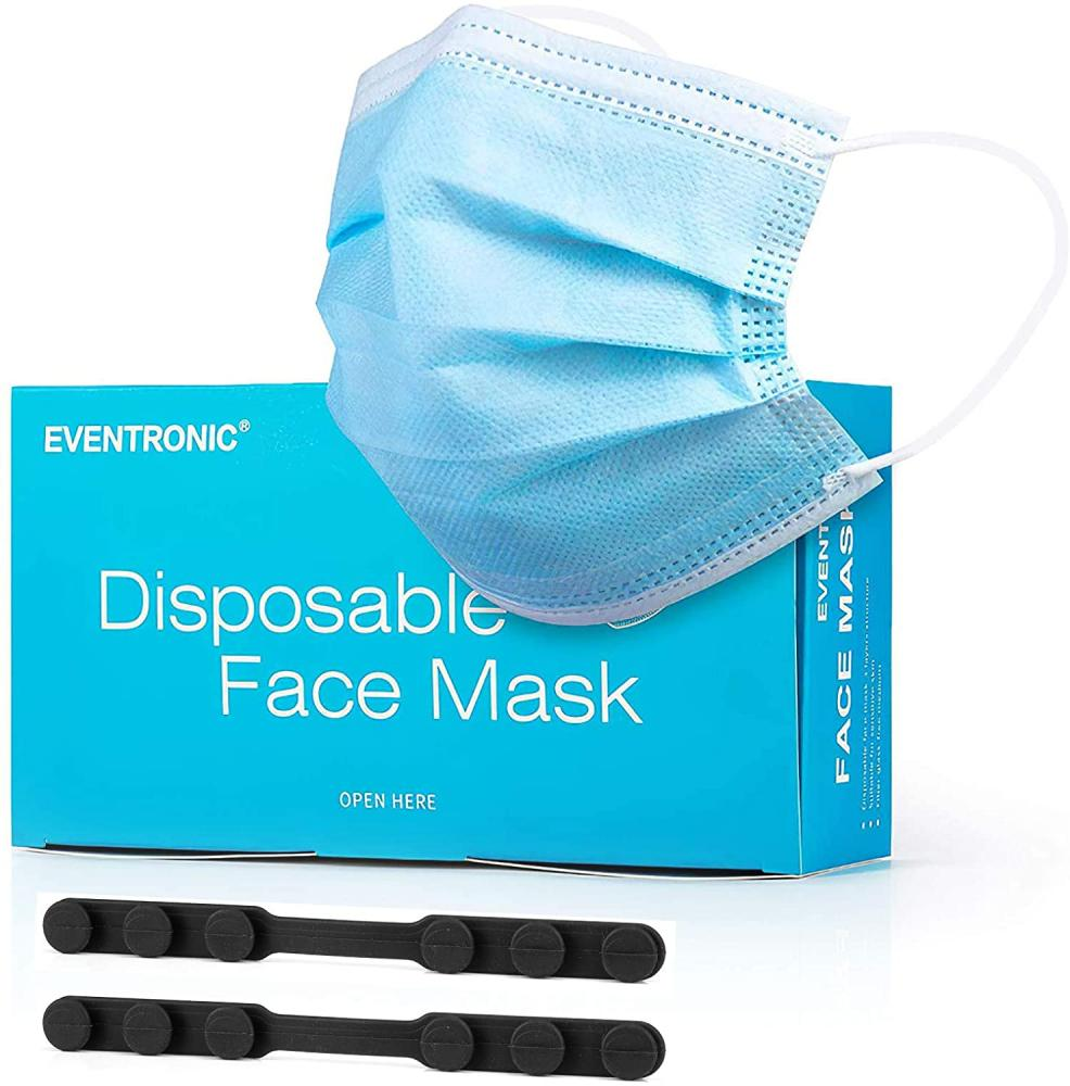 Eventronic Three Layer Disposable Protective Mask for Adult and Teen Pack of 50