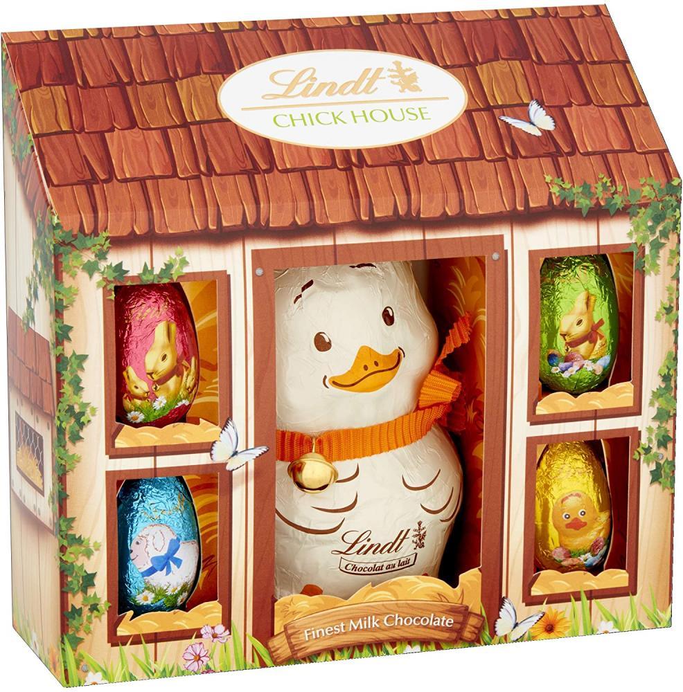 Lindt Chick Novelty Milk Chocolate Easter Gift Set 140g Damaged Box