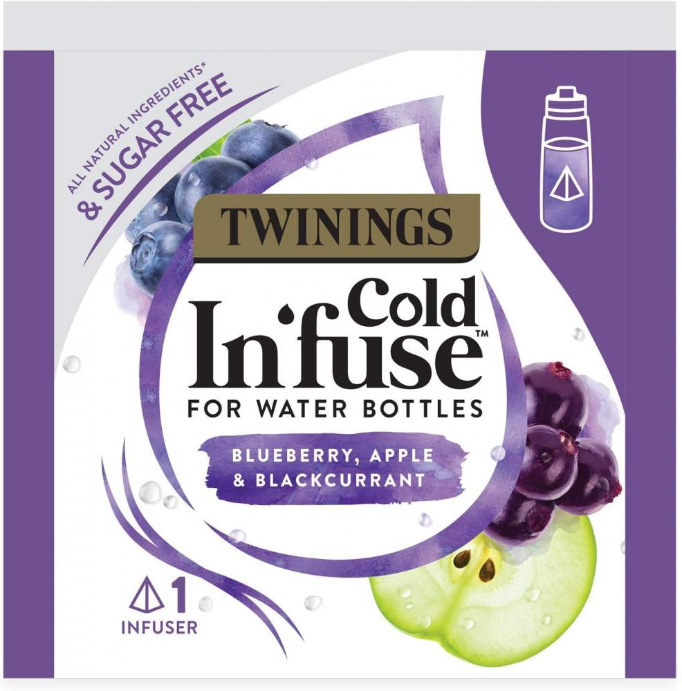 SALE  Twinings Cold In Fuse Blueberry Apple and Blackcurrant Trial Pack 3 Infusers