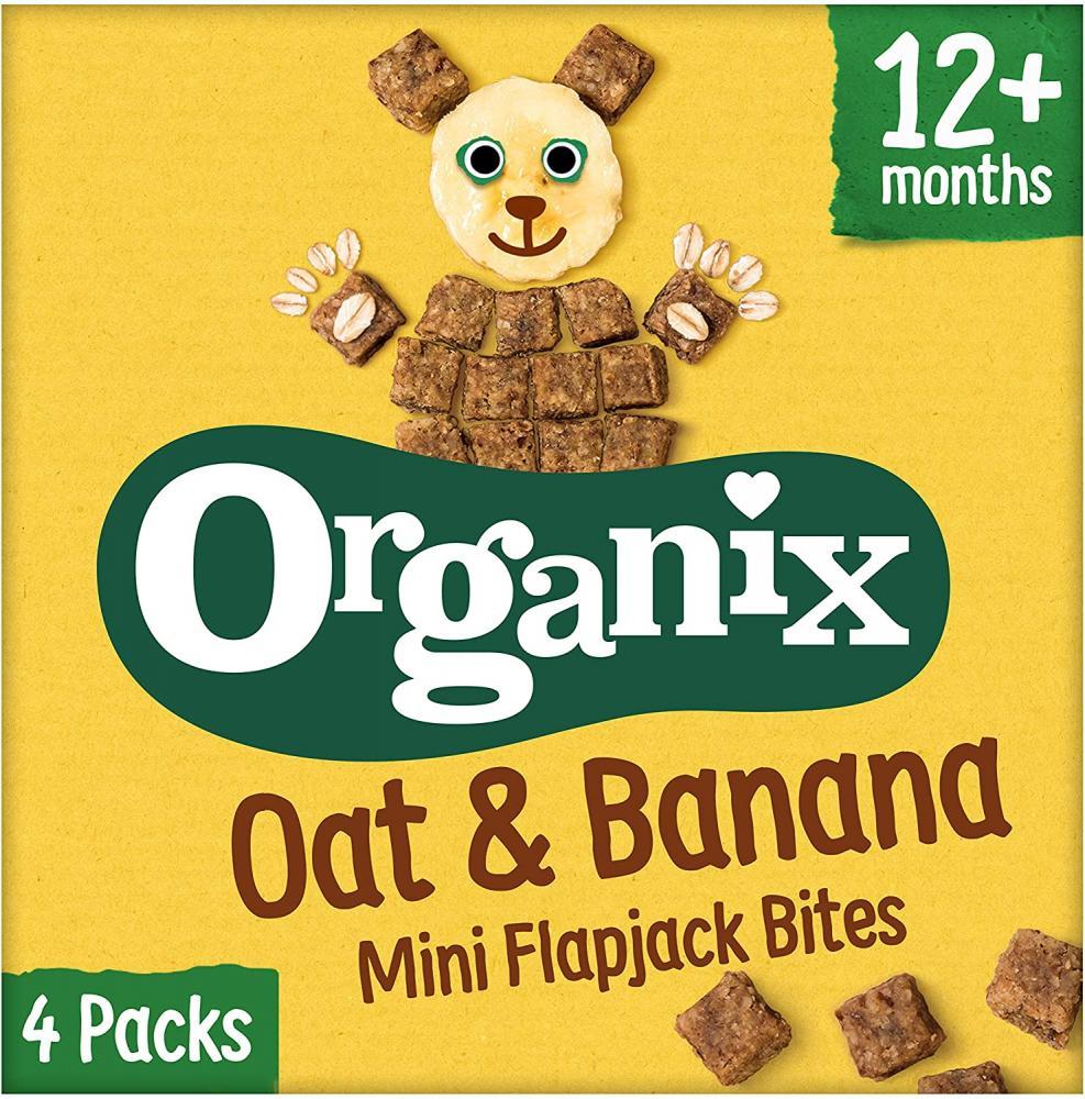Organix Organic Oat and Banana Flapjack Toddler Snack 4x20g
