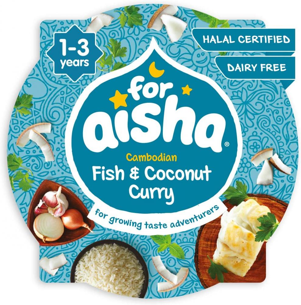 For Aisha Baby Food Fish And Coconut Curry 230 g