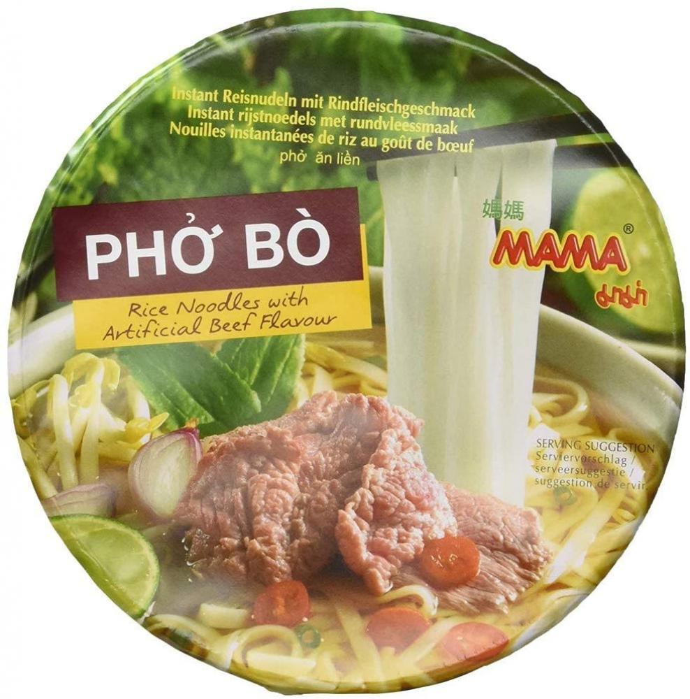 Mama Instant Rice Noodle Pho Bo Bowl 65 g