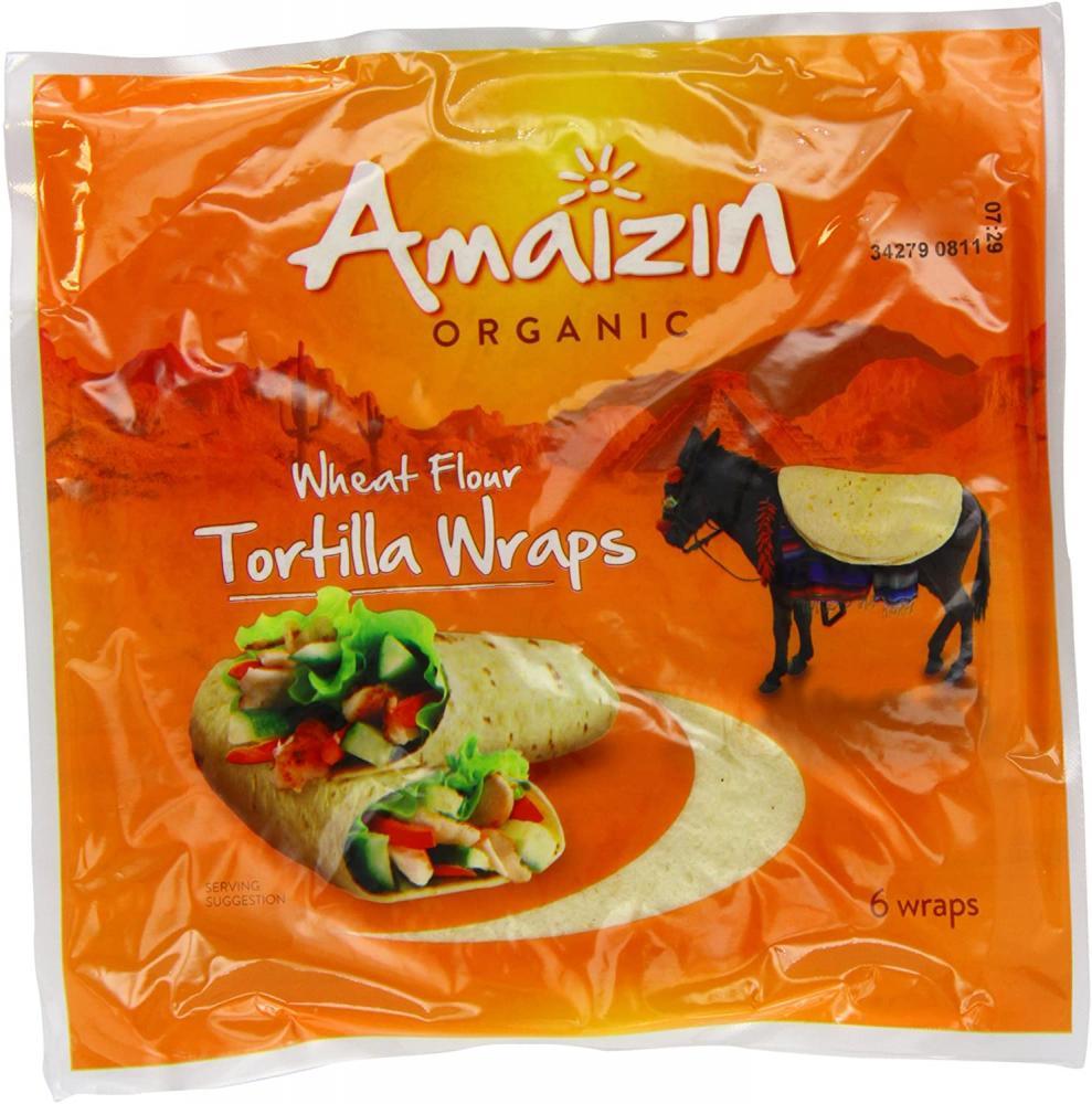 Amaizin Organic Wheat Flour Tortilla Wraps 240g