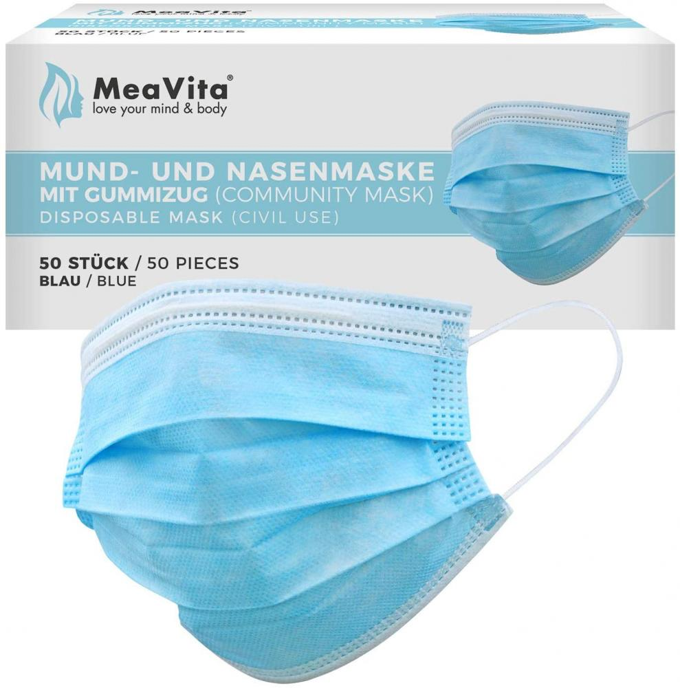 SALE  MeaVita Mouth and Nose Mask 3 Ply 50 Pieces