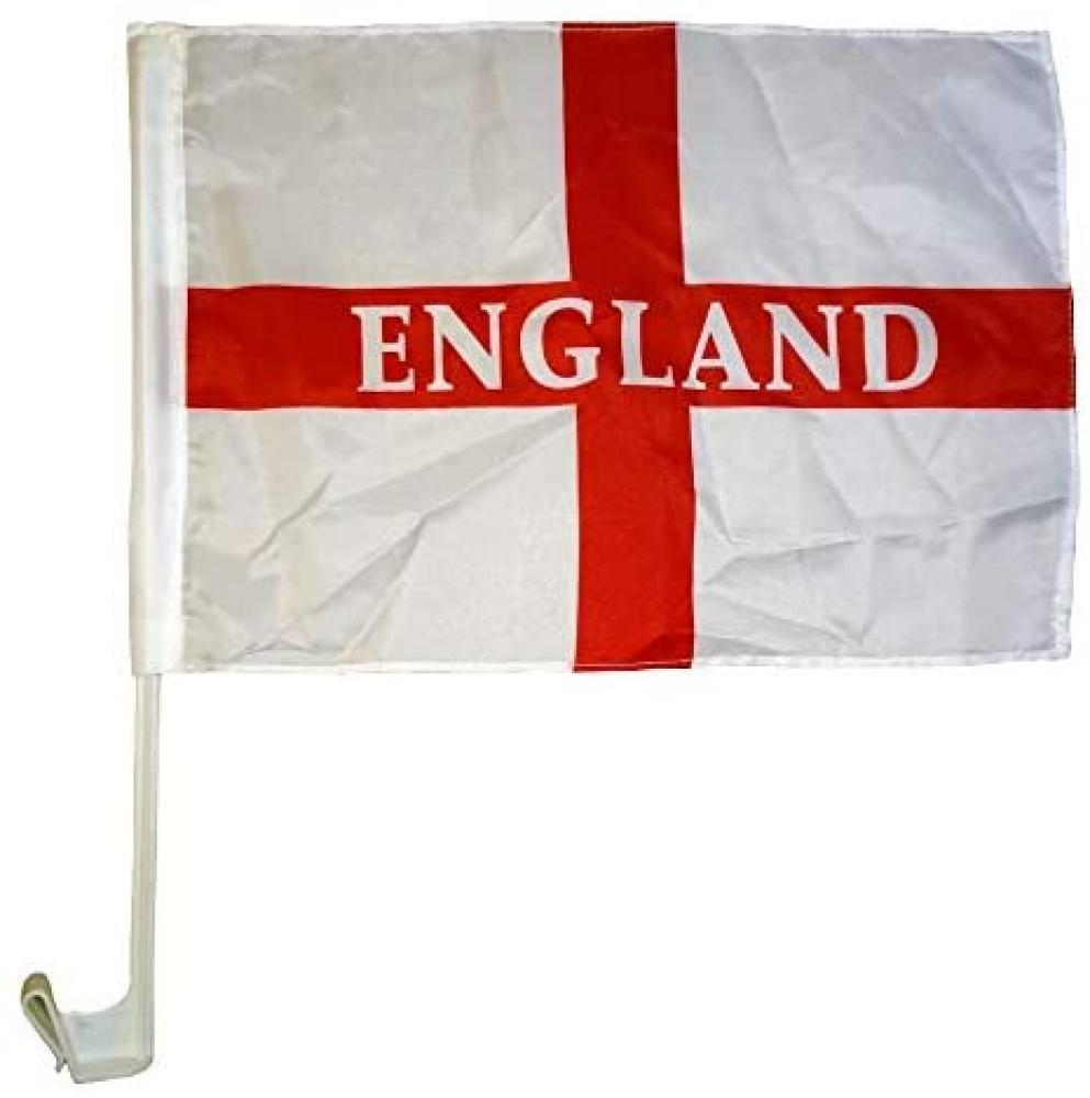 England Car Flags Twin Pack