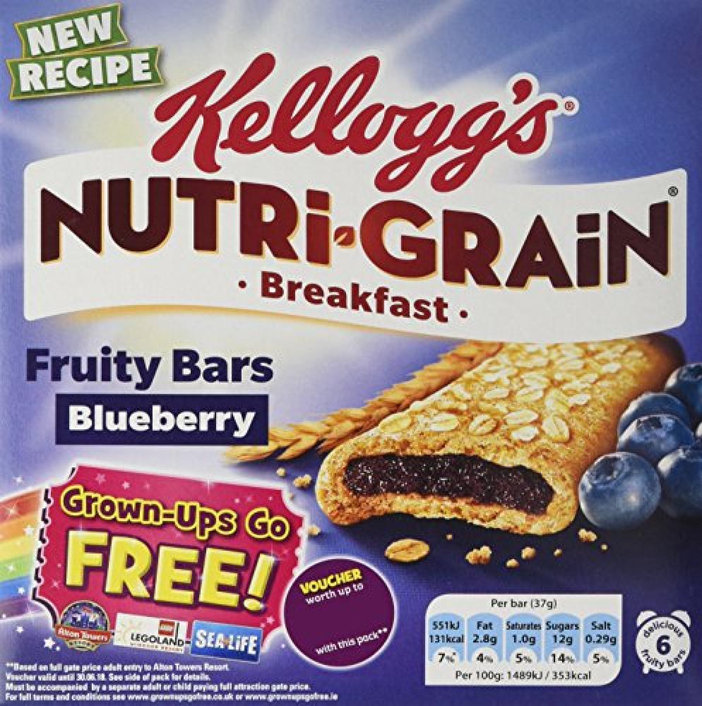 Kelloggs Fruity Blueberry Breakfast 6 Bars
