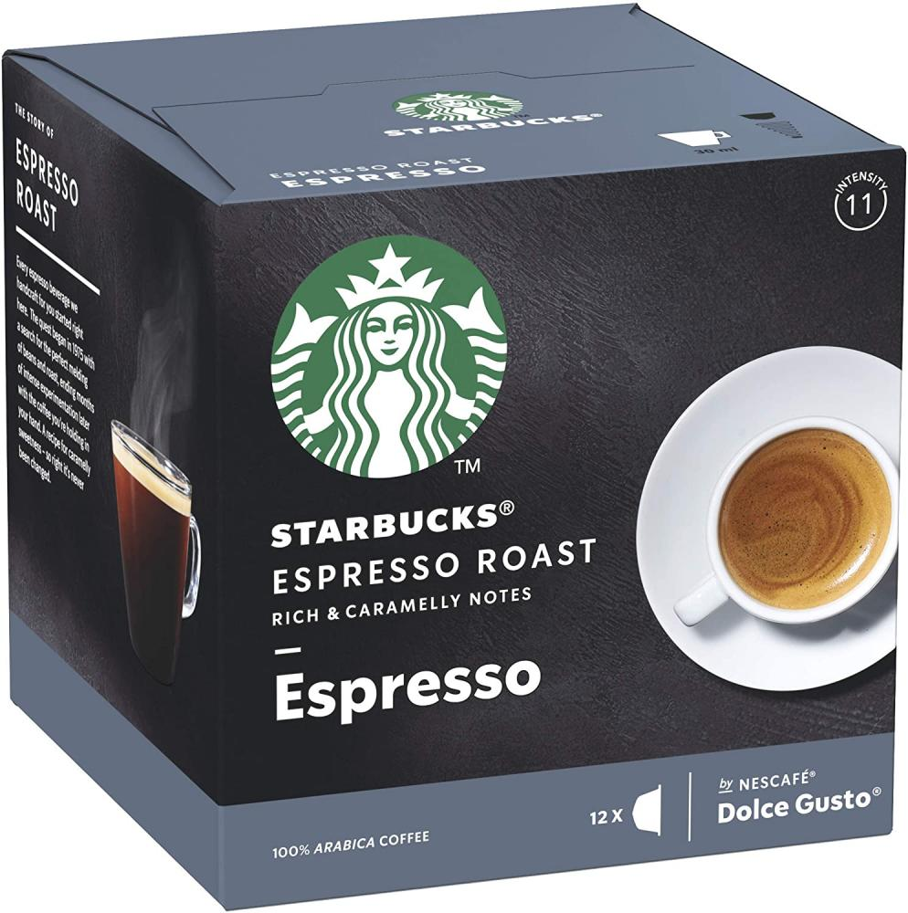 Starbucks Espresso Roast By Nescafe Dolce Gusto Dark Roast Coffee Pods 12 Capsules