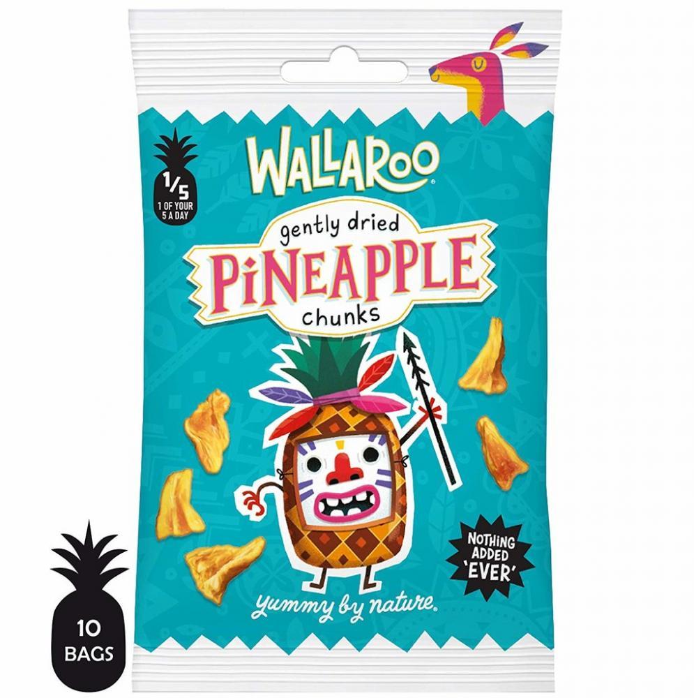 Wallaroo Gently Dried Pineapple Chunks 30g
