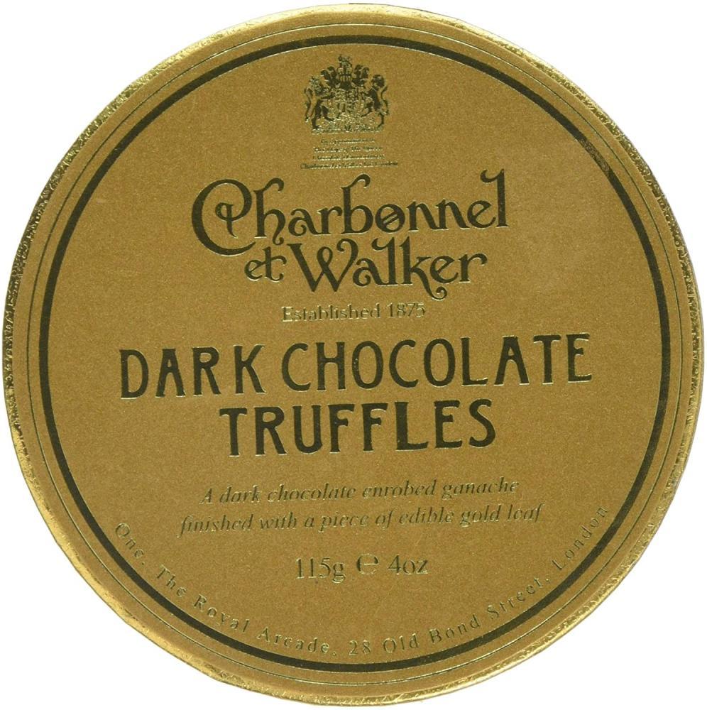 Charbonnel Et Walker Dark Chocolate Truffles with Gold Leaf 115 g Damaged Box