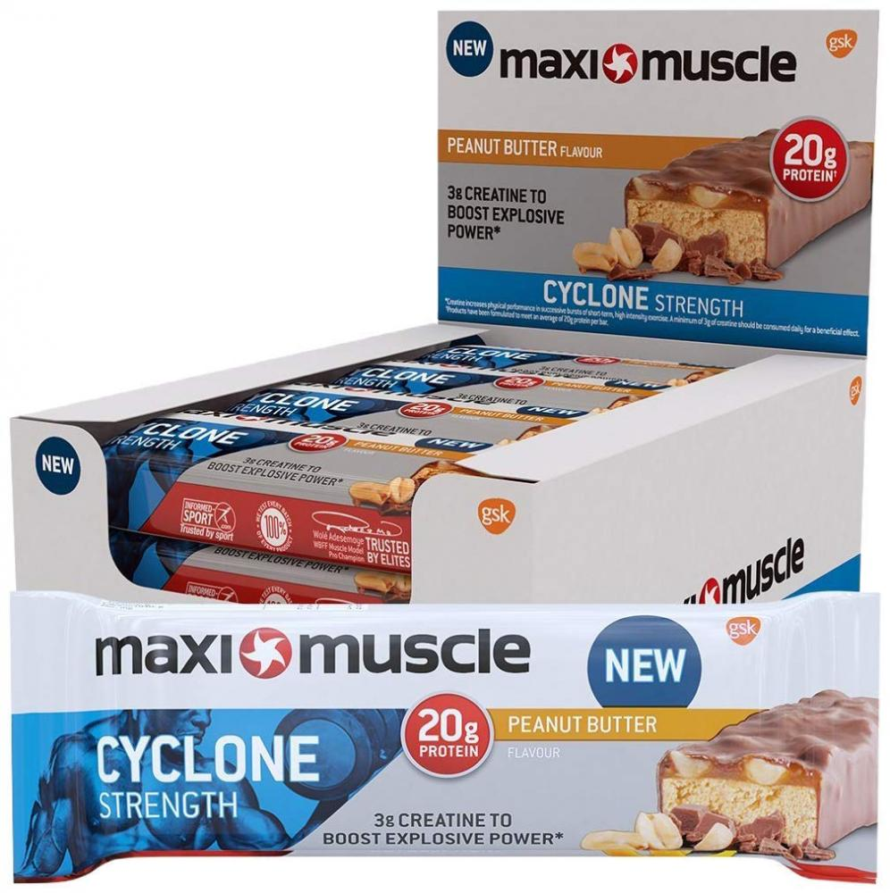 Maximuscle Cyclone High Protein And Creatine Bar Peanut Butter 60g