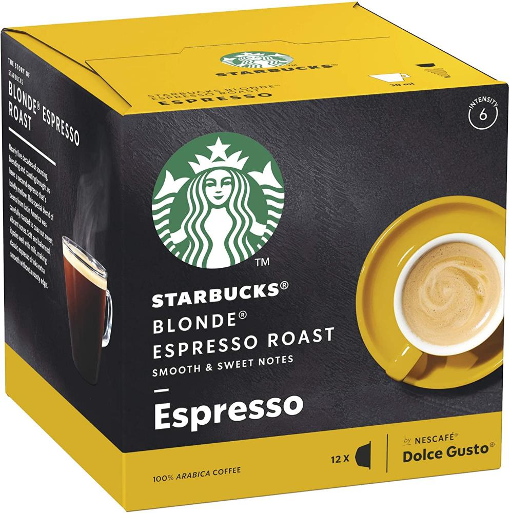 Starbucks Espresso Roast Blonde Roast Coffee Pods 12 Capsules